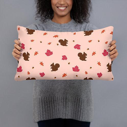 Squirrel Pattern Pillow