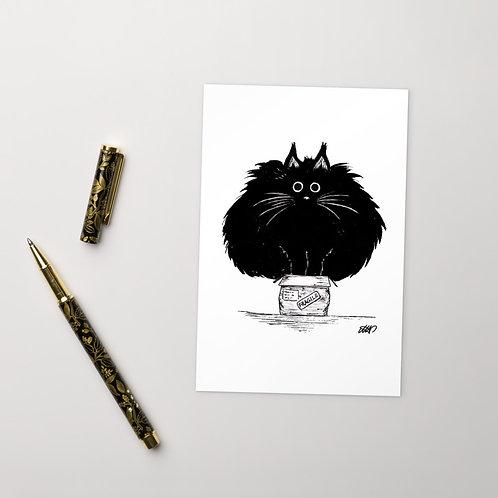 Standard Postcard - Cat In A Box
