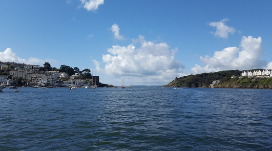 The Fowey river and harbour entrance.