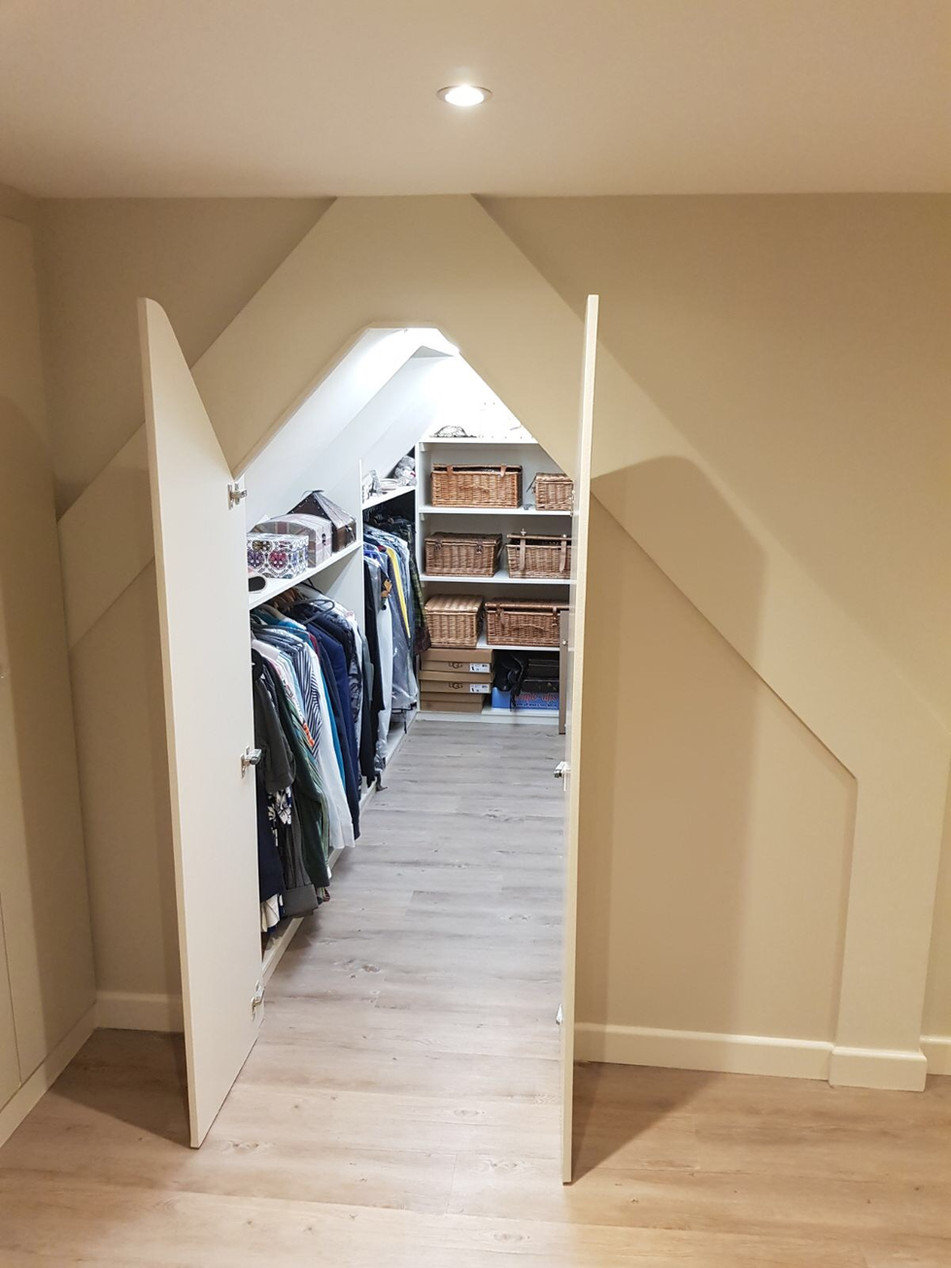 Walk in Wardrobe in Loft Conversion
