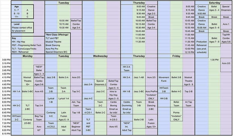 Team and Schedule 2020 - 2021 Working Do