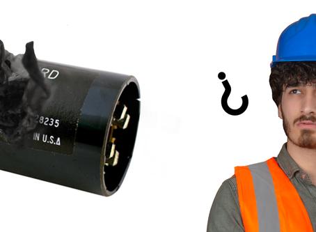 ¿Me cuentas cómo detectas si un capacitor está dañado?