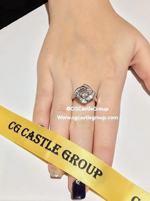 CASTLE HeartBeat Square Shape Ring