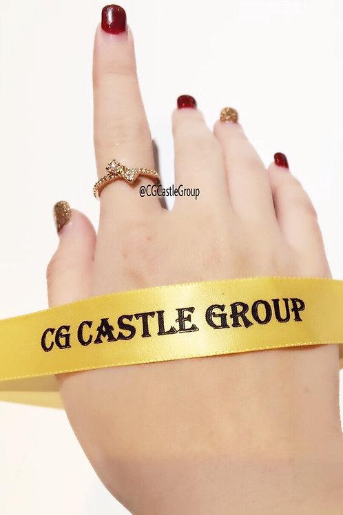 CG SideWay Ribbon 🎀 Crystal Ring