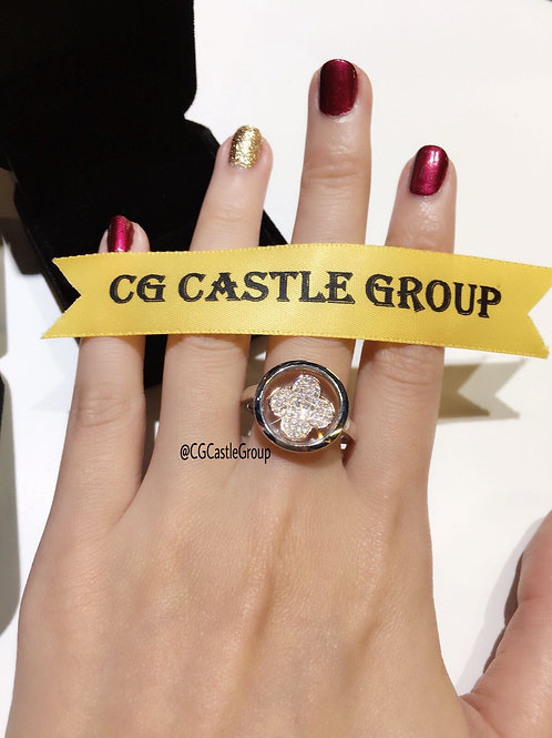 CASTLE Magic Four Leaves Spinning Ring
