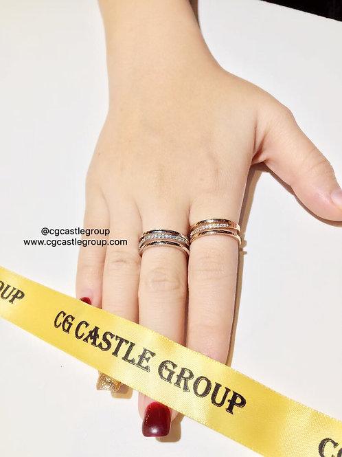 CG Crooked 3-Layer Ring Rosegold