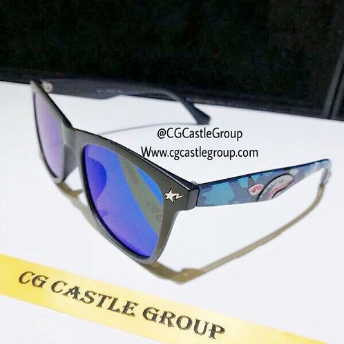CG Adult Shark Wayfarer Blue Lens/Blue Temple
