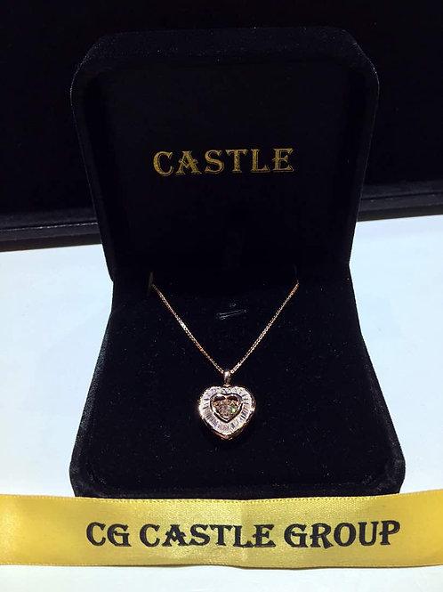 CASTLE HeartBeat Love Shape Rosegold Baguette