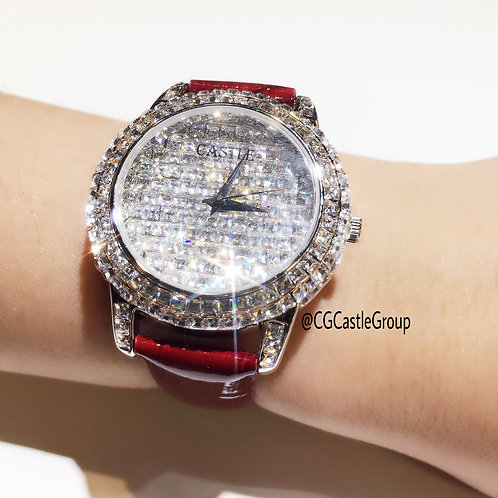 CASTLE Bling Series Red Strap 💎