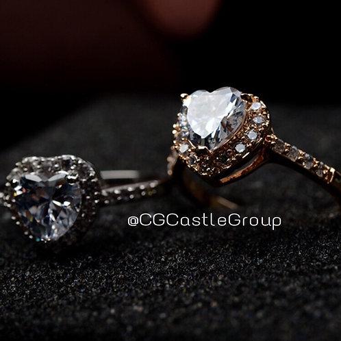 CG Heart❤️ Shape Crystal Ring