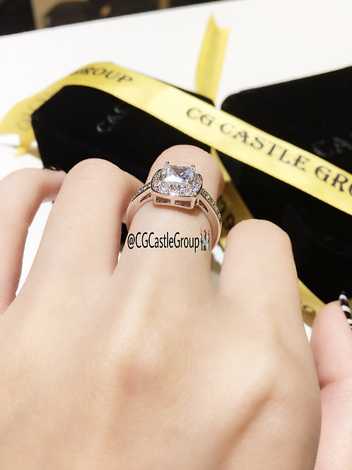 CG Square Solitaire Ring