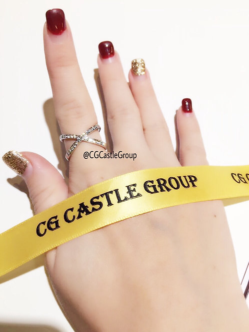 CG Cross Over Crystal Ring Silver
