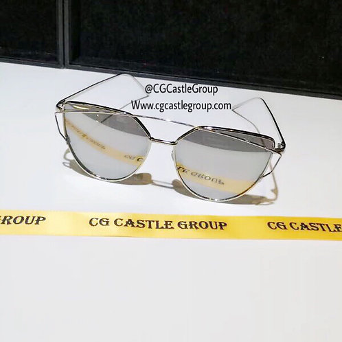 CG Adult Cat Eye Silver Frame/Silver Lens