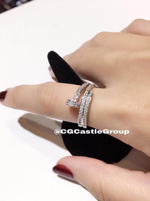 CG 3 Layer Nail Crystal Ring