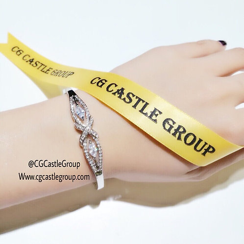 CG Double Eye Crystal Bangle