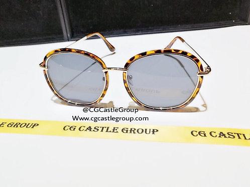 CG Double Aviator Leopard Frame/Black Lens