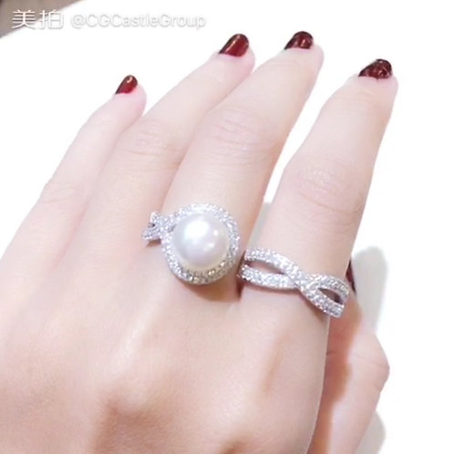 CG Double Finger Pearl Ring