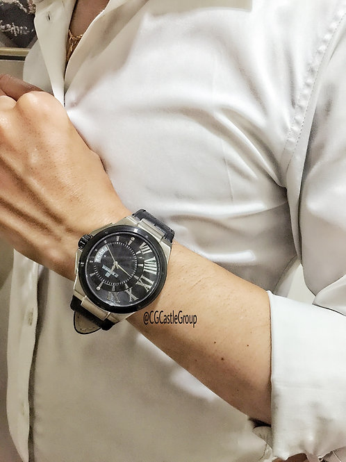 CG Curve Roman Watch Black/Silver