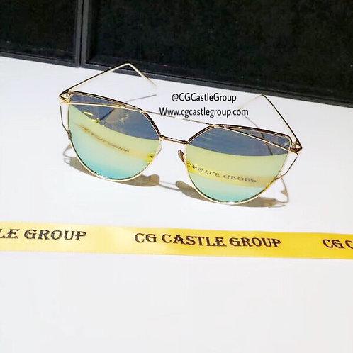 CG Adult Cat Eye Gold Frame/GreenGold Lens