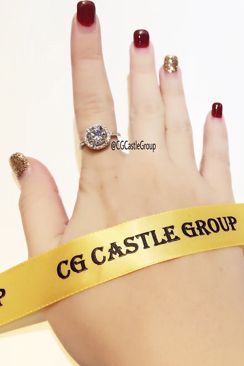 CG Round Solitaire Crystal Ring