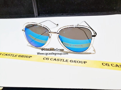 CG Double Aviator Silver Frame/Blue Lens
