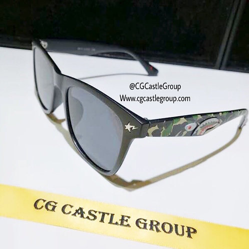 CG Adult Shark Wayfarer Black Lens/Green Temple