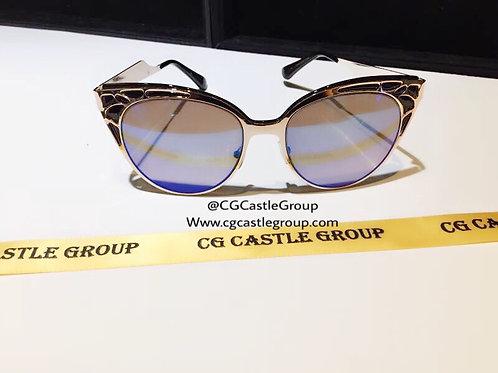 CG Adult Mask Sunglass Rosegold Frame/Blue Lens