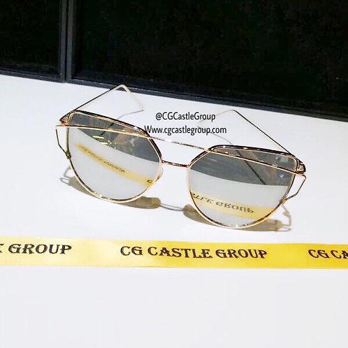 CG Adult Cat Eye Gold Frame/Silver Lens