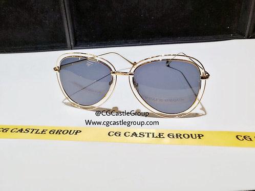 CG Double Aviator Rosegold Frame/Black Lens