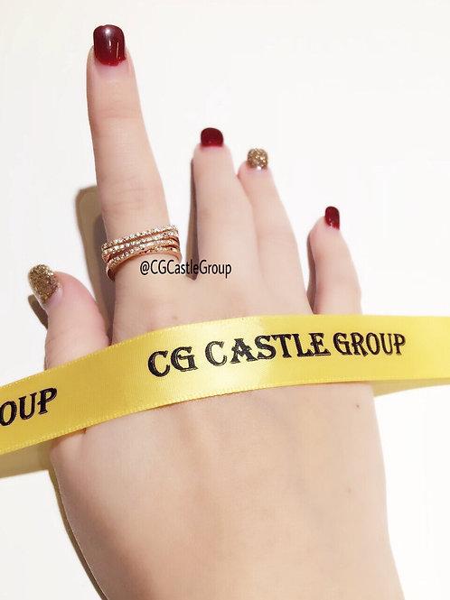 CG Straight CrossOver Crystal Ring Rosegold