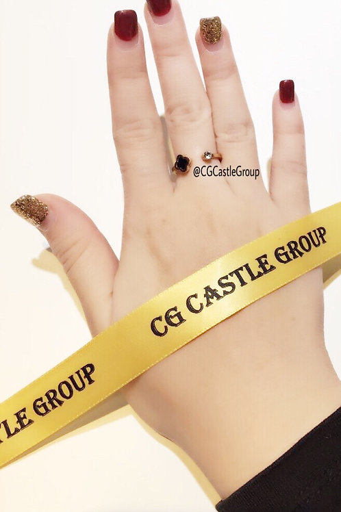 CG Four Leaves Front Opening Ring Rosegold