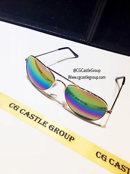 CG Kid Size Aviator Rosegold Frame/Rainbow Lens