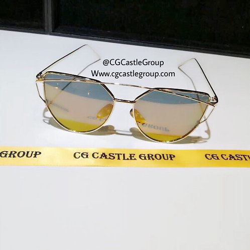 CG Adult Cat Eye Gold Frame/BrownRed Lens