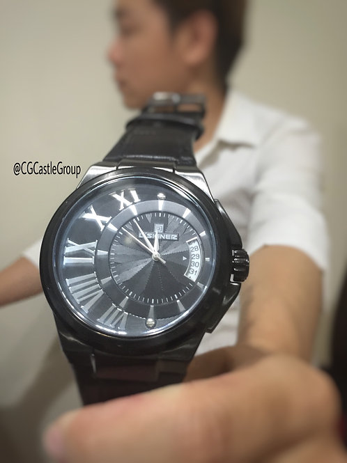 CG Curve Roman Full Black Watch