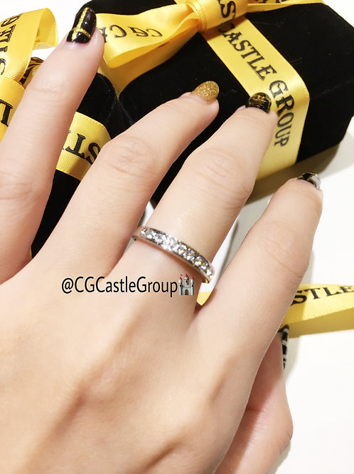 CG Single Layer Crystal Ring