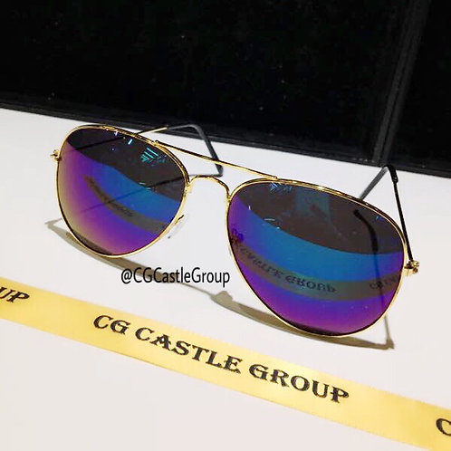 CG Adult Aviator Gold Frame/Green Blue Lens