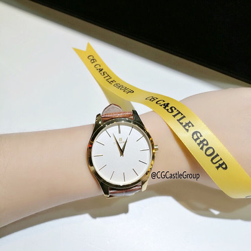 CG Couple Minimalist Watch White Dial/Gold Case