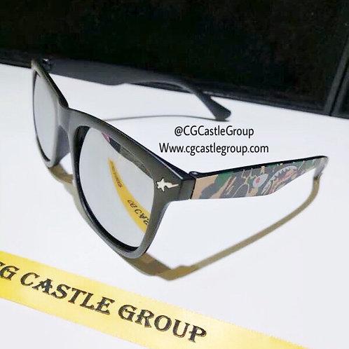 CG Adult Shark Wayfarer Silver Lens/Green Temple