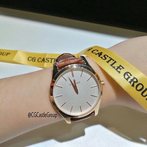 CG Couple Minimalist White Dial/Rosegold Case
