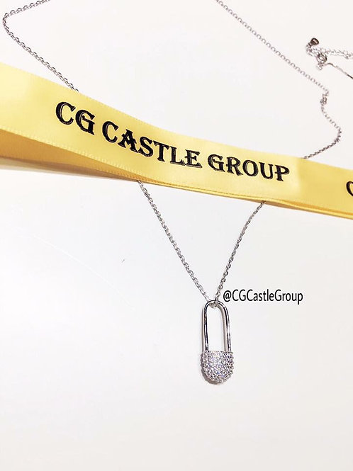 CG Safety Pin Necklace