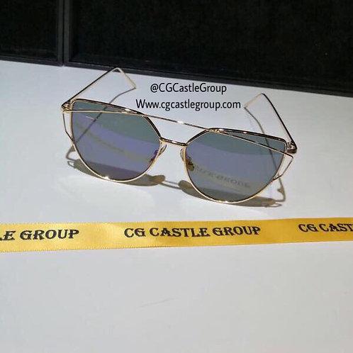 CG Adult Cat Eye Gold Frame/Black Lens