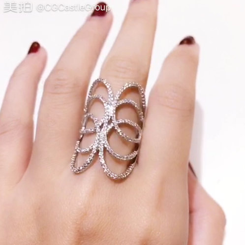 CG Butterfly Wing Crystal Ring