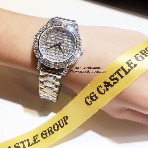 CASTLE Bling Series Watch Silver Chain
