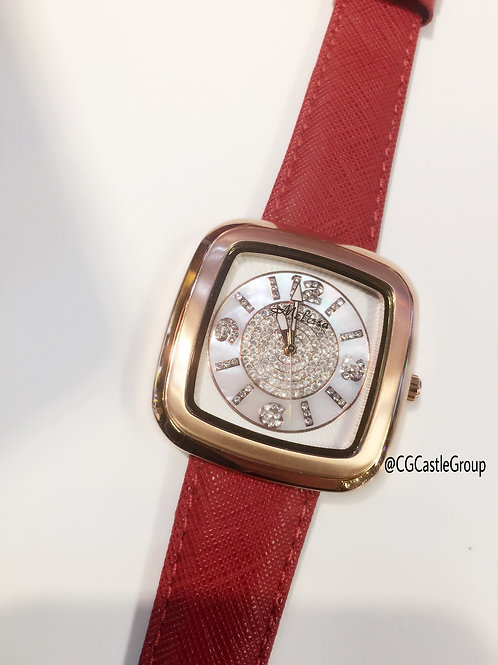 CG Squarify Series Watch White Dial/Rosegold