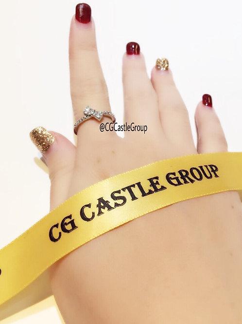 CG SideWay Ribbon Ring Silver