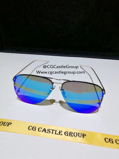 CG Adult Flat Aviator Blue Lens