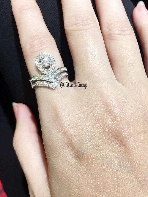 CG Elegant 2 Layer Crystal Ring