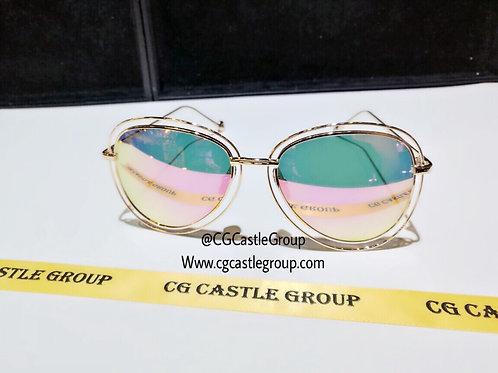CG Double Aviator Rosegold Frame/PinkGreen lens