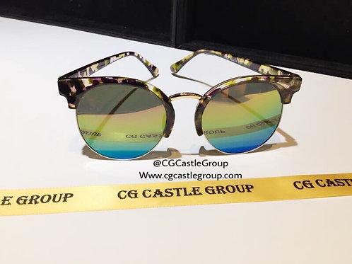 CG Adult Korean Half Brown Frame/Rainbow Lens