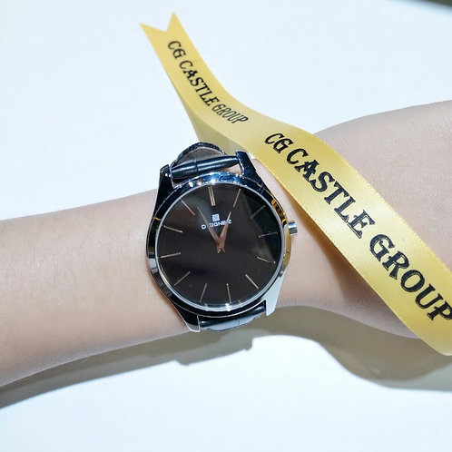 CG Couple Minimalist Watch Black Dial/Silver Case
